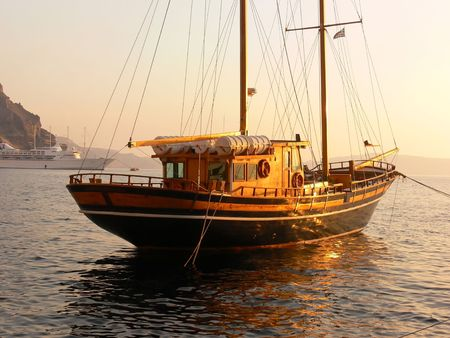 Old wooden sailboat. Stock Photo - 2102780