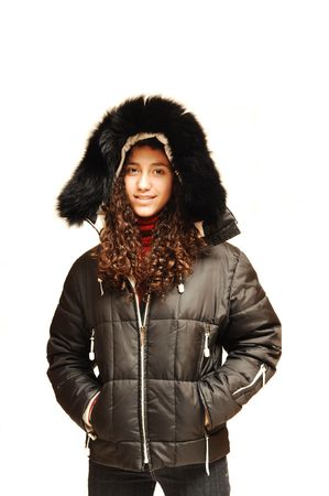 Young Lady in parka. photo