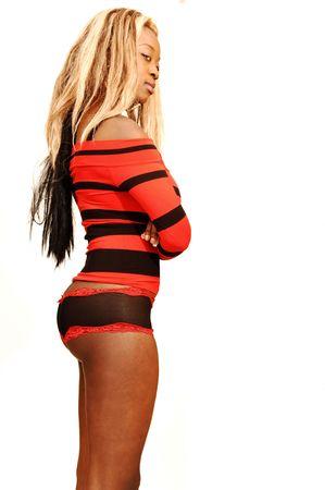 huge: Young Jamaican girl Stock Photo