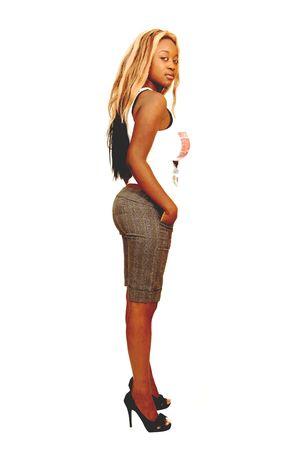busty: Jamaica joven chica 28.  Foto de archivo