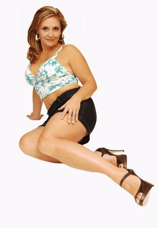 donna in ginocchio: Giovane donna in ginocchio 19.