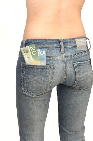 Young topples woman in jeans 3. Stock Photo - 2830722