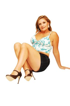 huge: Young woman sitting 22.