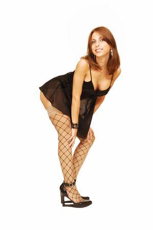 nice butt: Woman standing on floor.