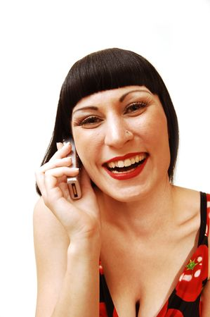 Woman on the cell phone. Stock Photo - 3320246