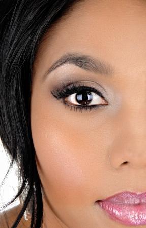 A closeup picture of a beautiful Asian woman photo