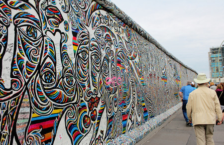 A part of the old Berlin wall between east and west Berlin.