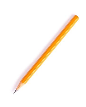 grafit: Ołówek grafitu koloru żółtego samodzielnie na białym tle