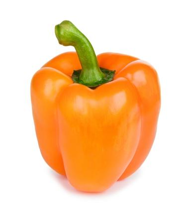 Orange paprika (pepper) isolated on a white background Stock Photo