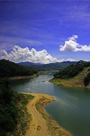 catchment: reservior in nature Stock Photo