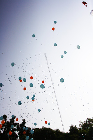 to flit: balloon in sky