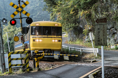 railroad crossing: Train and railroad crossing platforms