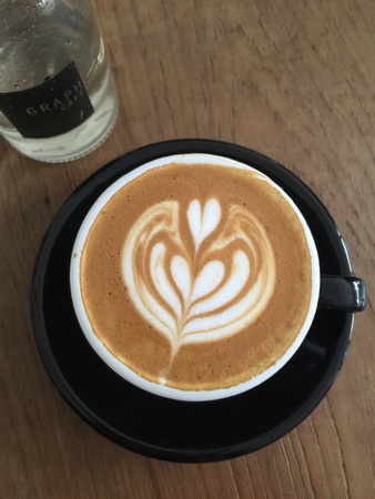 art: A cup of art coffee