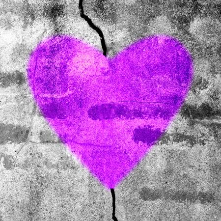 Love is heal  purple heart