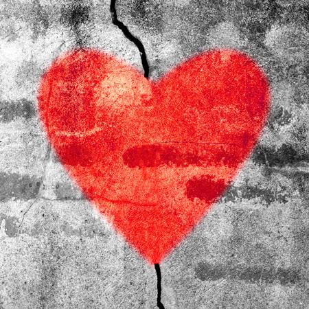 Love is heal  red heart  Stock fotó