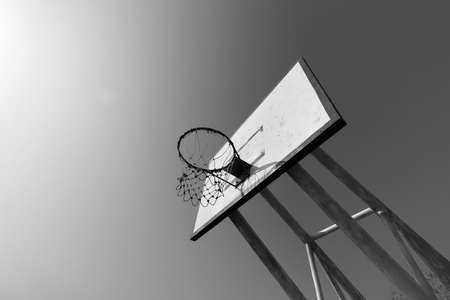 blackwhite: Basketball hoop blackwhite concept Stock Photo