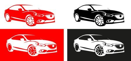 motorized: japan car shape of red black colour