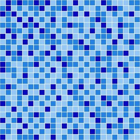 tapet: pool blue mosaic Illustration