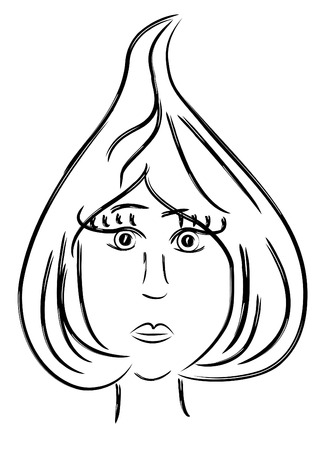 Stylized woman portrait as queen of spades