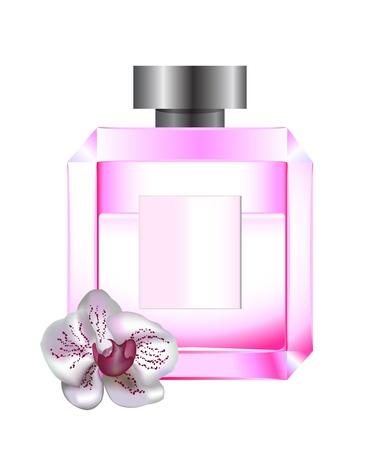 fiole: Parfums avec orchid�e blanche faite avec un gradient de maillage