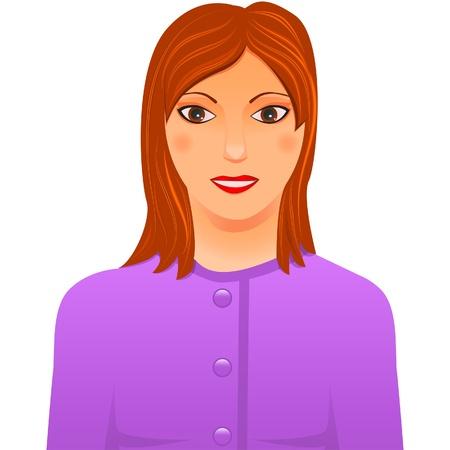 blazer: avatar of businesswoman in lilac blazer