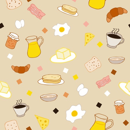 cereal box: Breakfast seamless pattern