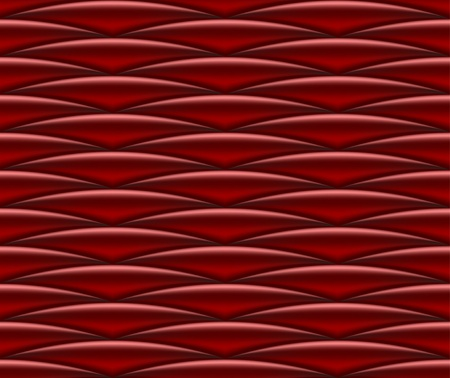 Seamless pattern with red  draped silk Illustration