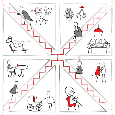 careerist: Career climbers and other lifestyles. Seamless pattern