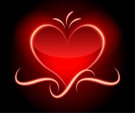 Red glamor valentine�s background. Gradient mesh. Eps10