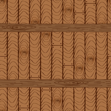 Seamless wooden pattern with horizontal planks or shelves Vector