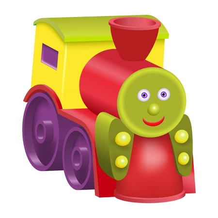 Toy cartoon locomotive Gradient mesh Vector