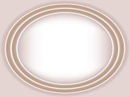 silken: Cream satin wedding ellipse background. Grdient mesh Illustration