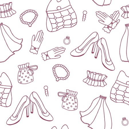 Wedding seamless pattern in simple style Vector