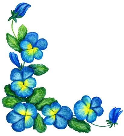 floral corner: Gentle floral corner with pansy