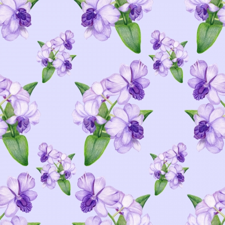 Bright penciled lilac orchid pattern