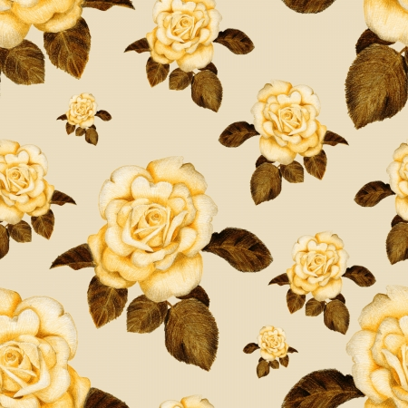 Gentle vintage pattern with roses