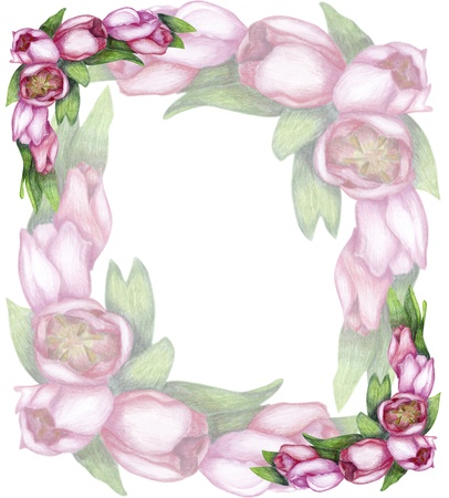 Gentle floral card with tulips