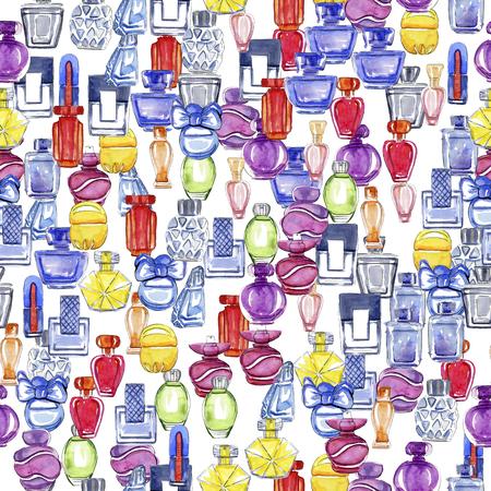 Perfumes seamless pattern