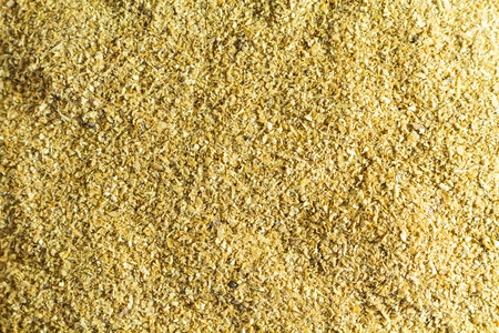 Cellulose. Food supplement. Looks like sawdust close-up Stock Photo