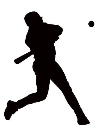 golpeando: sobre fondo blanco, el juego del hombre de b�isbol.