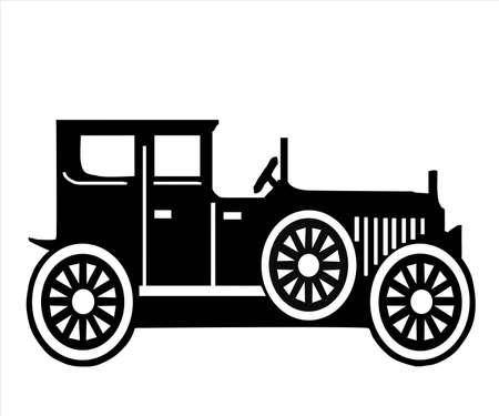 breach: on white background, is made old-time car.