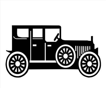 on white background, is made old-time car. Stock Vector - 10467452