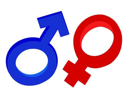 male female gender symbols vector