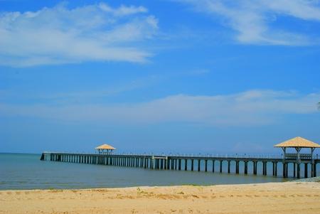 Pier extend to sea photo