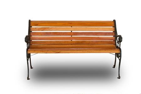 garden bench: Isolate wooden bench