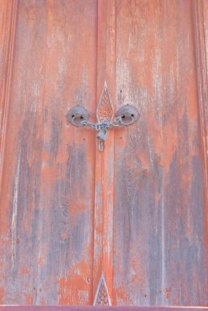Classic wooden door photo