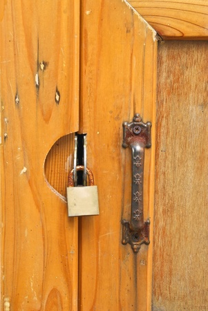 Door lock and key Stock Photo - 12176435