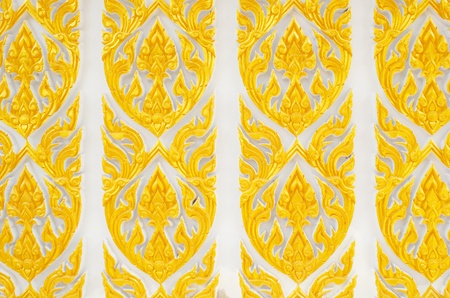 Thai pattern with gold color photo