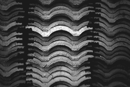 Gradient roof tile stack photo