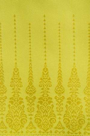 Thai golden pattern fabric photo